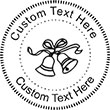 WedBell Embossing Seal. Choose your mount and view your custom text in a live preview. Find all your custom embossing needs at atozstamps.com