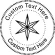 XMASSTAR-1 Embossing Seal. Choose your mount and view your custom text in a live preview. Find all your custom embossing needs at atozstamps.com