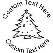 XMASTREE-1 Embossing Seal. Choose your mount and view your custom text in a live preview. Find all your custom embossing needs at atozstamps.com
