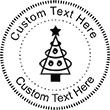 XMASTREE-4 Embossing Seal. Choose your mount and view your custom text in a live preview. Find all your custom embossing needs at atozstamps.com