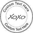 XoXo Embossing Seal. Choose your mount and view your custom text in a live preview. Find all your custom embossing needs at atozstamps.com