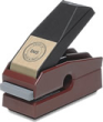 Corporate Desk Seal - Mark Maker is easy on the hand, Black Base with Real Brass Plate Engraved with Company Name, AtoZstamps.com for more