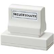 Protect yourself with the Xstamper Secure Stamp Large. The special black ink obscures private information.  Perfect for hiding personal information so that it can't be easily read, scanned or copied.