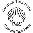 Seashell Embossing Seal. Choose your mount and view your custom text in a live preview. Find all your custom embossing needs at atozstamps.com